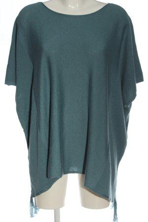 Esprit Sweter z krótkim rękawem turkusowy W stylu casual
