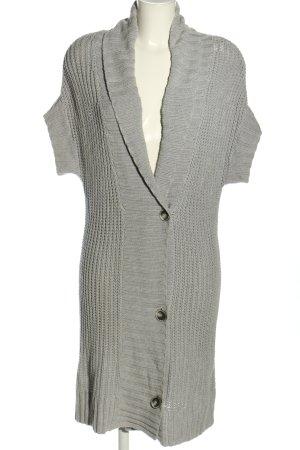 Esprit Cardigan à manches courtes gris clair torsades style décontracté