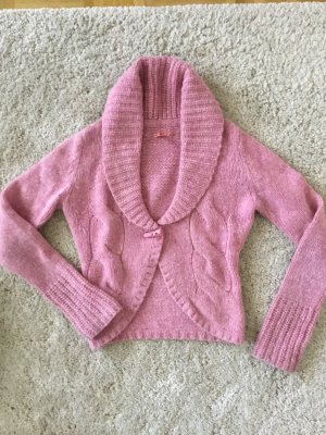 Esprit Gilet tricoté rose laine angora