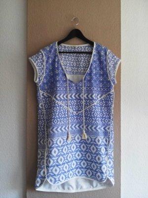 Esprit kurzes Tunikakleid mit Ethno Muster aus 100% Baumwolle, Größe M, neu