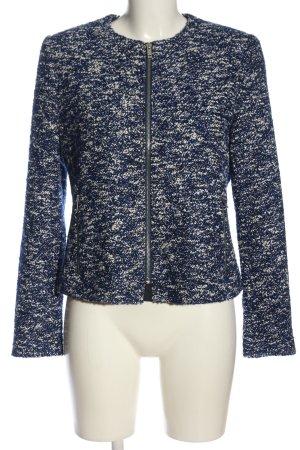 Esprit Krótka kurtka niebieski-biały Melanżowy W stylu casual
