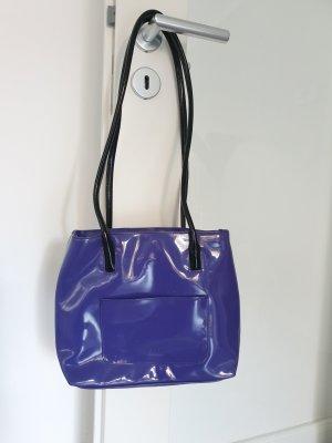 Esprit Lack Handtasche lila / schwarz