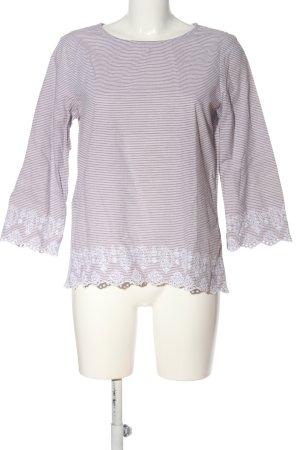 Esprit Langarm-Bluse braun-weiß Blumenmuster Casual-Look