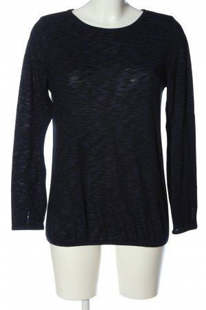 Esprit Langarm-Bluse blau-schwarz meliert Casual-Look