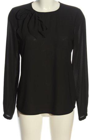 Esprit Bluzka z długim rękawem czarny W stylu casual