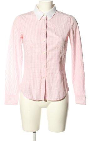 Esprit Langarm-Bluse weiß-pink Allover-Druck Business-Look
