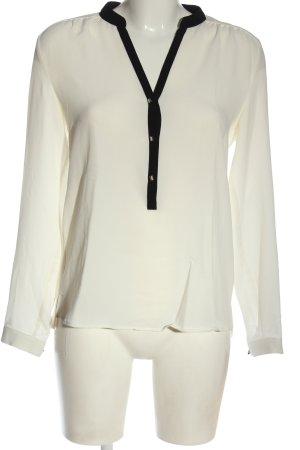 Esprit Langarm-Bluse weiß-schwarz Business-Look
