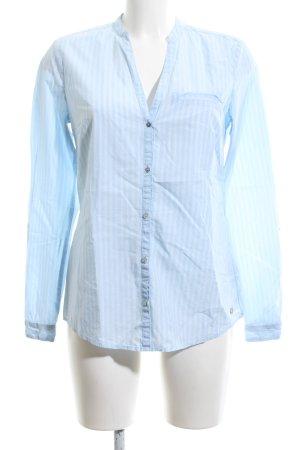 Esprit Langarm-Bluse blau-weiß Streifenmuster Business-Look