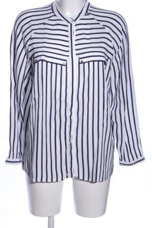 Esprit Langarm-Bluse weiß-blau Streifenmuster Business-Look