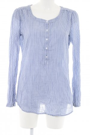 Esprit Langarm-Bluse blau-weiß Streifenmuster Casual-Look