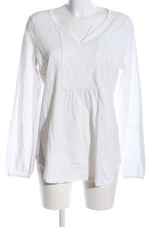 Esprit Langarm-Bluse weiß meliert Casual-Look