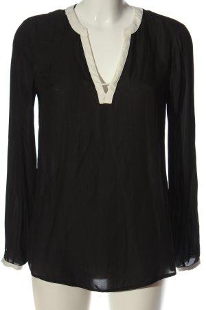 Esprit Langarm-Bluse schwarz-wollweiß Casual-Look