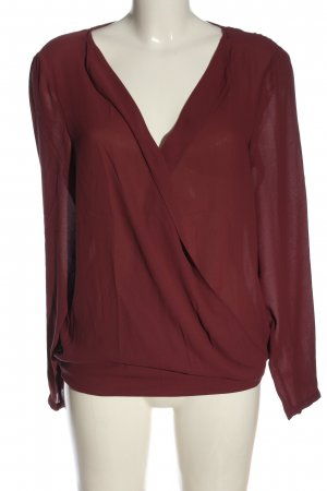 Esprit Langarm-Bluse rot Casual-Look