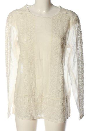Esprit Langarm-Bluse creme Blumenmuster Elegant