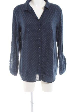 Esprit Langarm-Bluse blau Allover-Druck Casual-Look