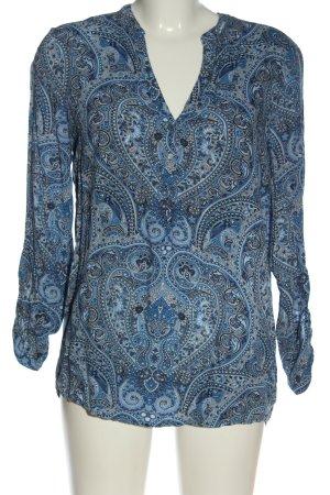 Esprit Langarm-Bluse abstraktes Muster Casual-Look