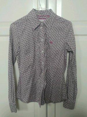 Esprit Langarm Bluse mit Röschen und Muster in Flieder