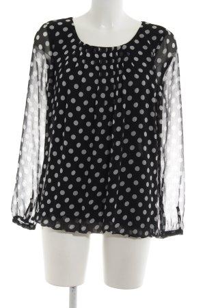 Esprit Langarm-Bluse schwarz-weiß Punktemuster Business-Look