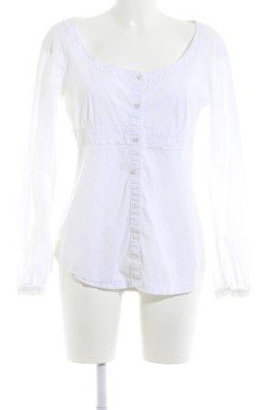 Esprit Langarm-Bluse weiß schlichter Stil