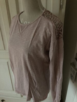 Esprit Langarm Pullover mit Spitze Farbe Altrosa neu