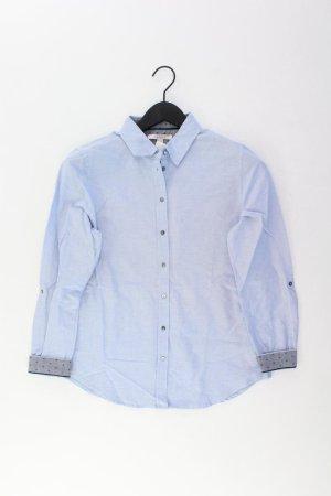 Esprit Langarmbluse Größe 36 blau aus Baumwolle