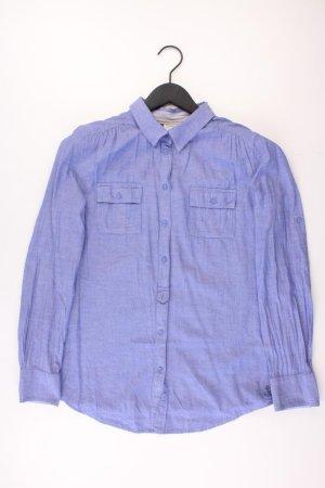 Esprit Langarmbluse Größe 38 blau aus Baumwolle