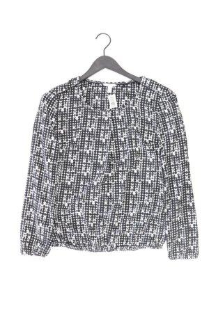 Esprit Langarmbluse Größe 38 gepunktet schwarz aus Polyester