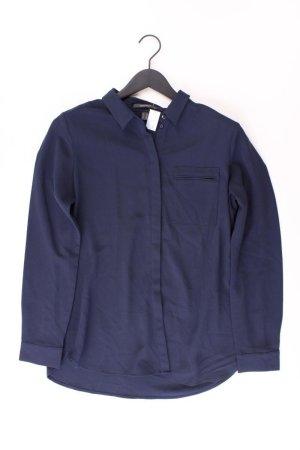 Esprit Langarmbluse Größe 40 blau aus Polyester