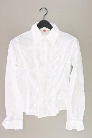 Esprit Langarmbluse Größe L weiß aus Baumwolle