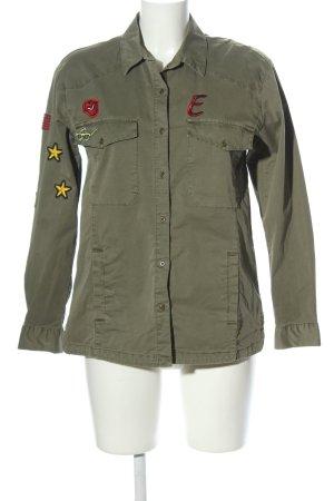 Esprit Langarmhemd khaki Motivdruck Casual-Look
