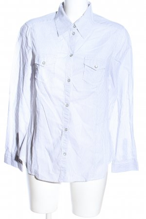Esprit Camisa de manga larga blanco-azul estampado a rayas look casual