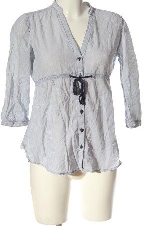 Esprit Langarmhemd schwarz-weiß Streifenmuster Casual-Look