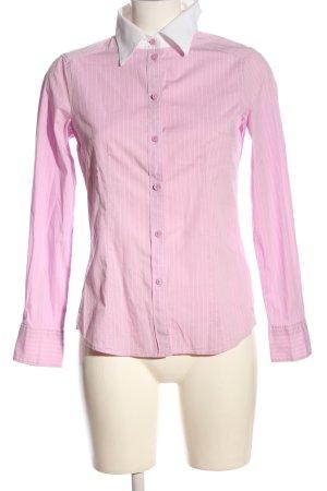 Esprit Langarmhemd pink-weiß Allover-Druck Casual-Look