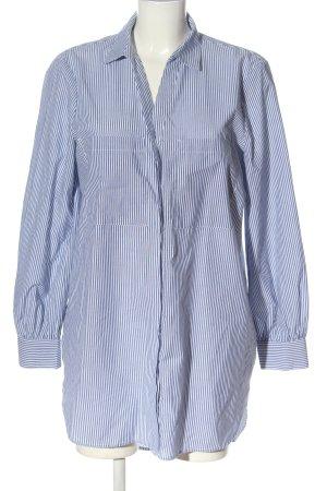 Esprit Langarmhemd weiß-blau Streifenmuster Business-Look