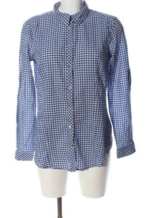Esprit Langarmhemd blau-weiß Allover-Druck