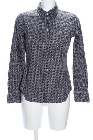 Esprit Langarmhemd schwarz-weiß Allover-Druck Business-Look