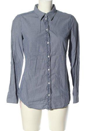 Esprit Langarmhemd blau-weiß Streifenmuster Casual-Look