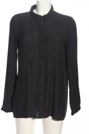 Esprit Langarmhemd schwarz Zopfmuster Casual-Look