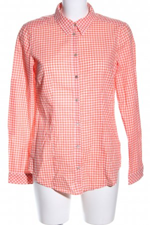 Esprit Langarmhemd rot-weiß Karomuster Business-Look