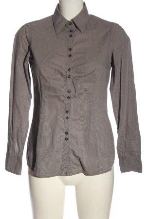 Esprit Langarmhemd hellgrau-weiß Streifenmuster Casual-Look