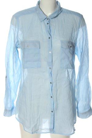 Esprit Camisa de manga larga azul estilo «business»