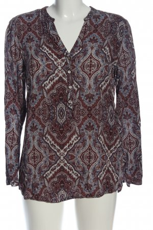 Esprit Langarmhemd abstraktes Muster Casual-Look