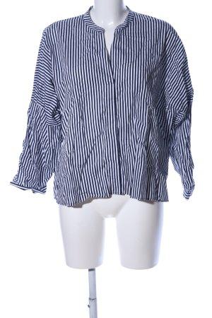 Esprit Langarmhemd schwarz-weiß Streifenmuster Business-Look