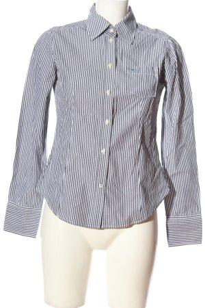 Esprit Langarmhemd weiß-hellgrau Streifenmuster Casual-Look