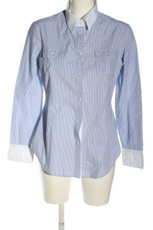 Esprit Langarmhemd blau-weiß Streifenmuster Business-Look