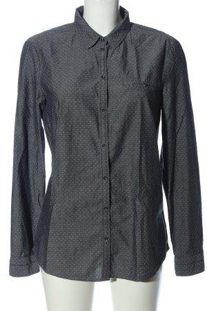 Esprit Langarmhemd hellgrau-weiß Allover-Druck Business-Look
