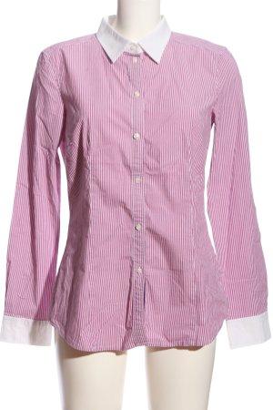 Esprit Camisa de manga larga rosa-blanco estampado a rayas estilo «business»