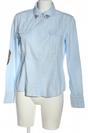 Esprit Langarmhemd blau Business-Look