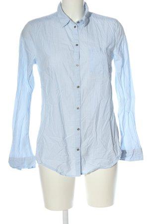 Esprit Langarmhemd blau-weiß Mustermix Casual-Look