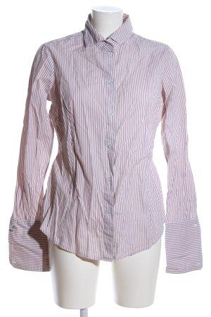 Esprit Langarmhemd braun-weiß Streifenmuster Casual-Look